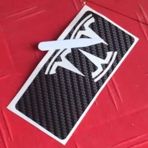 Tesla Carbon decal styling