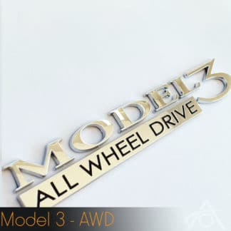 Tesla Model 3 All Wheel Drive Emblem